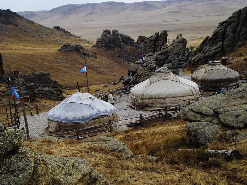 Vita in Mongolia fotografie stock libere da diritti