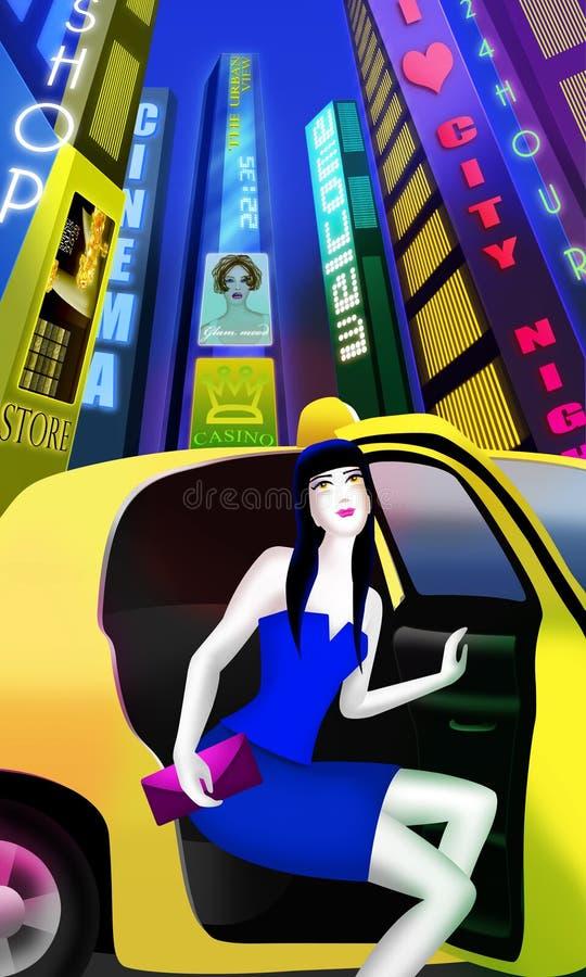 Vita notturna della città royalty illustrazione gratis