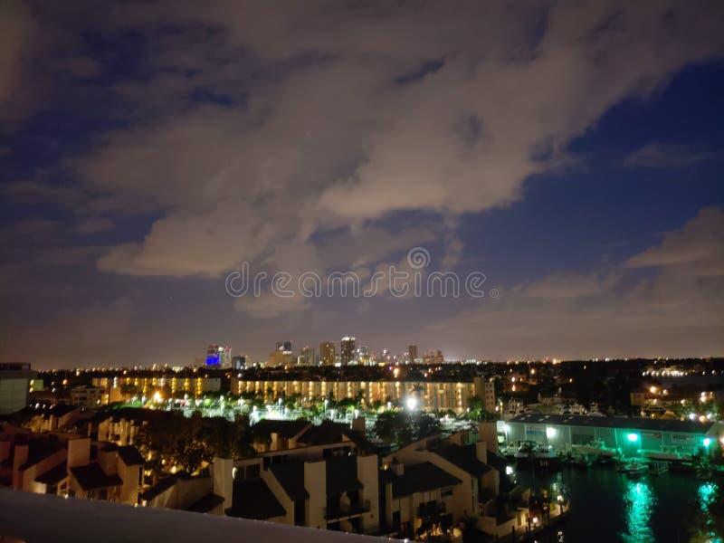 Vita notturna di Florida immagine stock