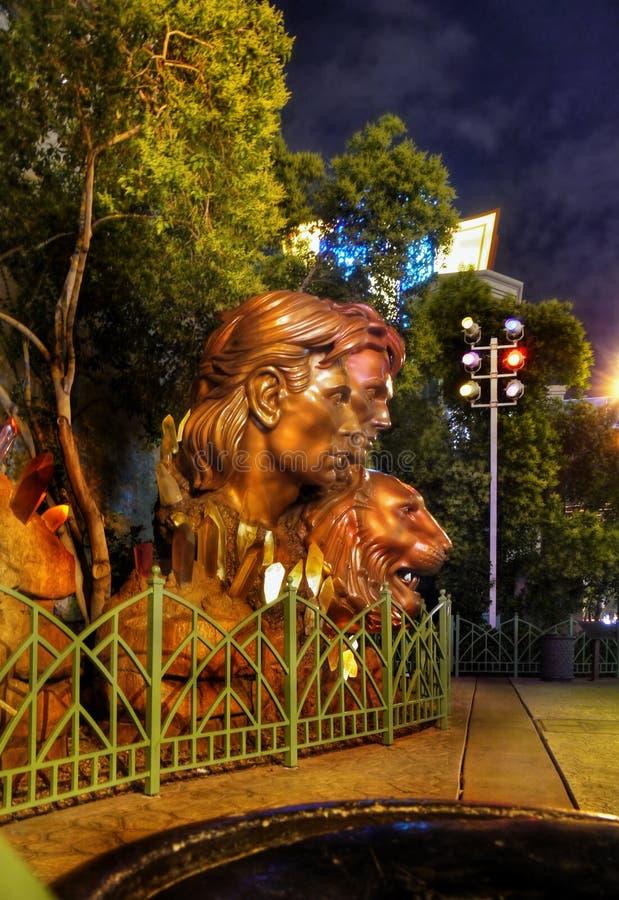 Vita notturna di Las Vegas immagini stock libere da diritti