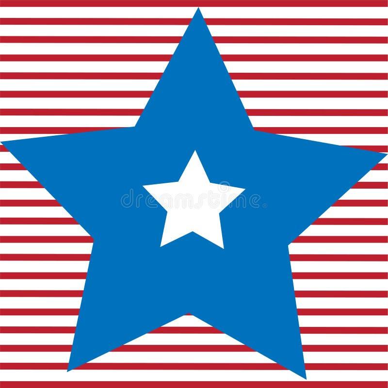 Vita och blåa stjärnor och röda bandfärger av USA sjunker, vektorn stock illustrationer