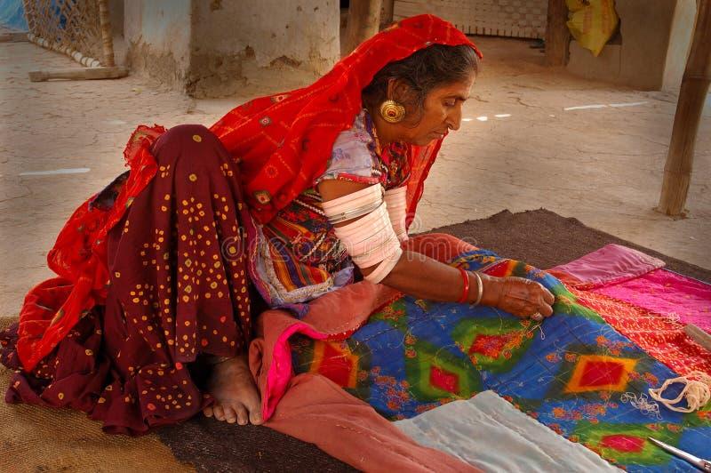 Vita piega in Goudjerate-India fotografia stock