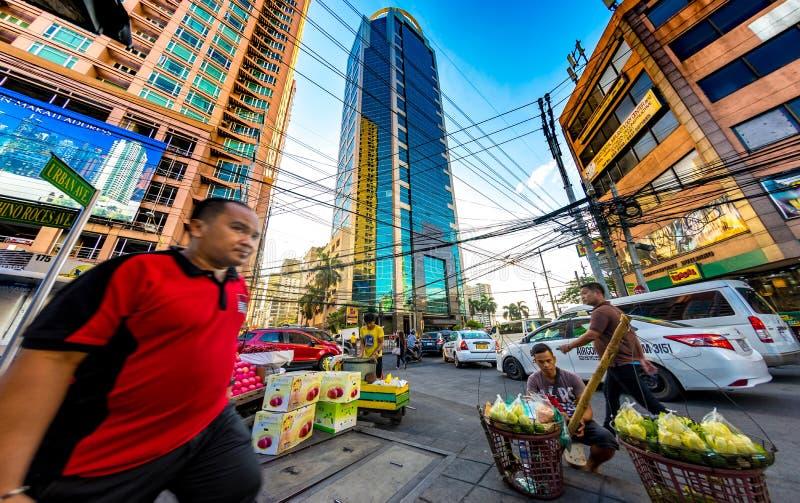 Vita quotidiana sulle vie di Manila immagine stock