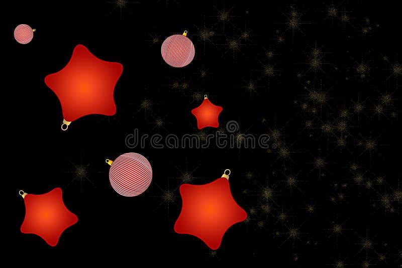 vita röda stjärnor för abstrakt för bakgrundsjul mörk för garnering modell för design vektor illustrationer