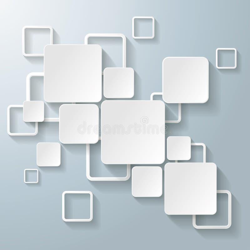 Vita rektangelfyrkanter royaltyfri illustrationer
