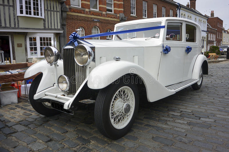 Vita Rolls Royce arkivfoto