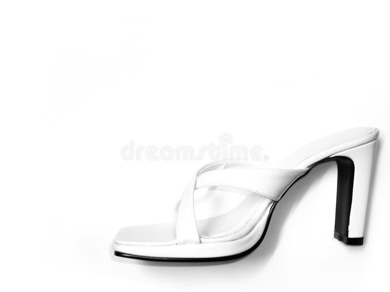 Vita Sandals Royaltyfri Fotografi