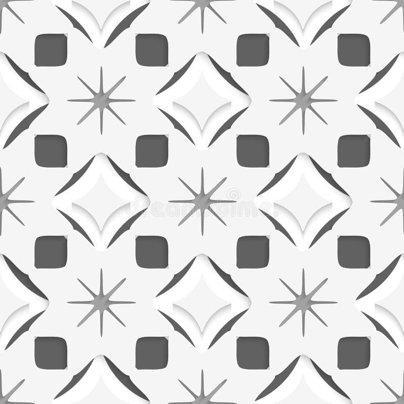Vita snöflingor på mörker - grått sömlöst royaltyfri illustrationer