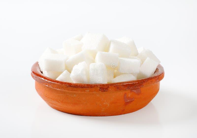 Vita sockerkuber arkivbild