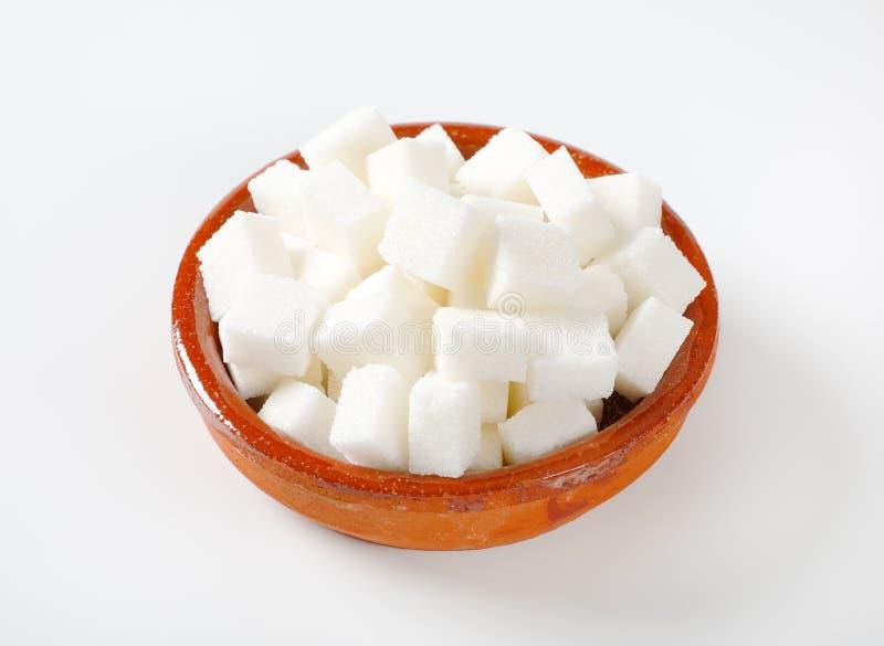 Vita sockerkuber fotografering för bildbyråer