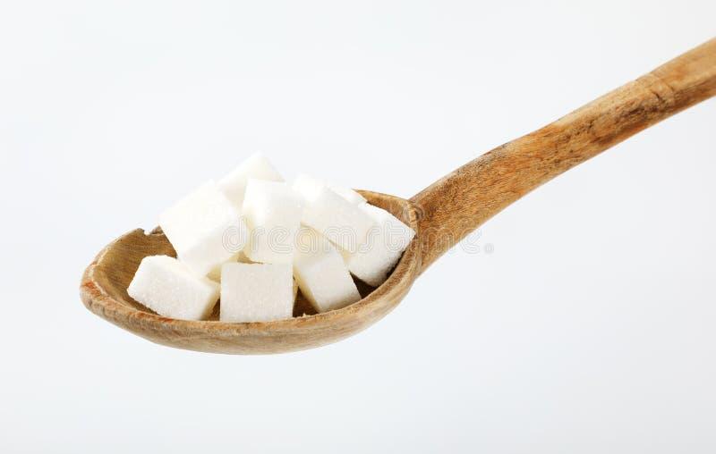 Vita sockerkuber arkivfoto