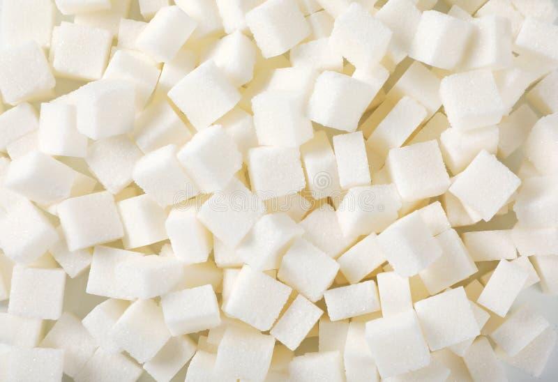 Vita sockerkuber royaltyfria foton