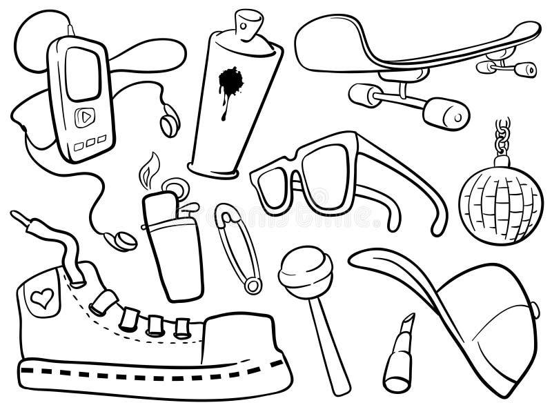 vita stadssymboler stock illustrationer