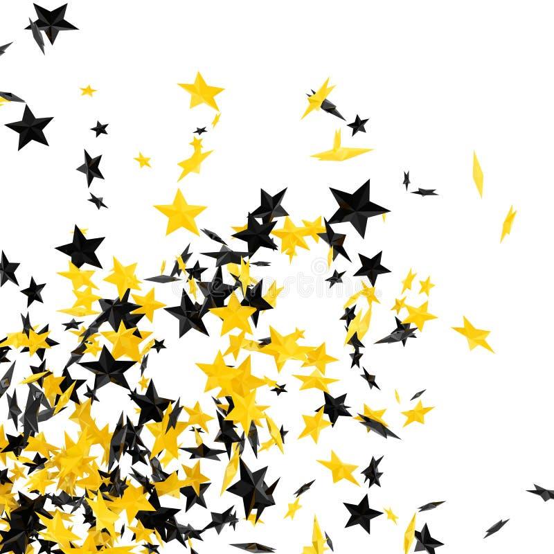 vita stjärnor vektor illustrationer