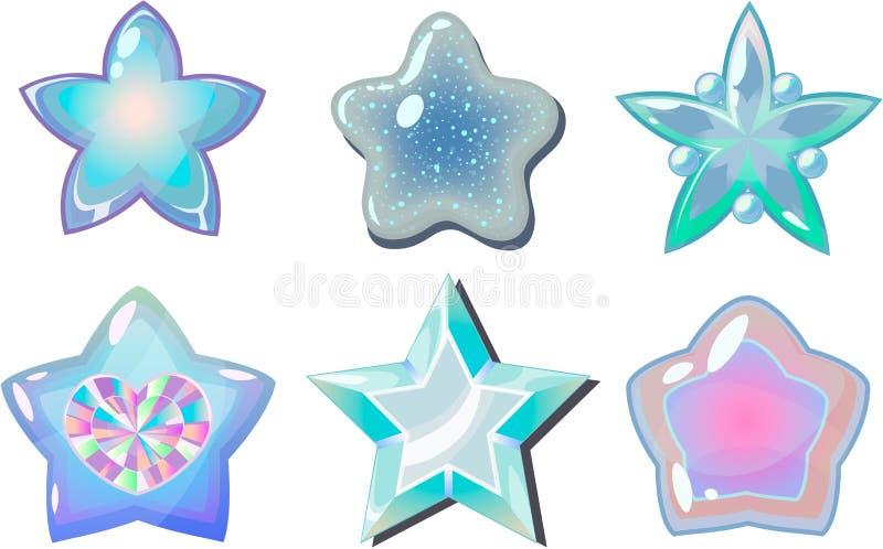 vita stjärnor stock illustrationer