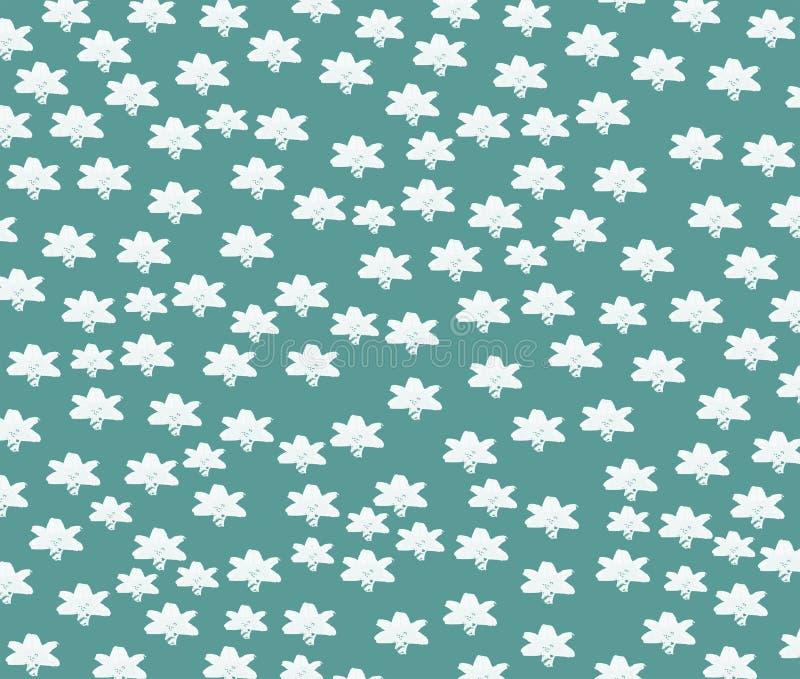 Vita stjärnor på en turkosbakgrund fotografering för bildbyråer