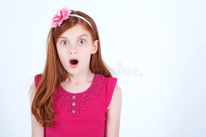 Vita su della ragazza emozionale immagini stock