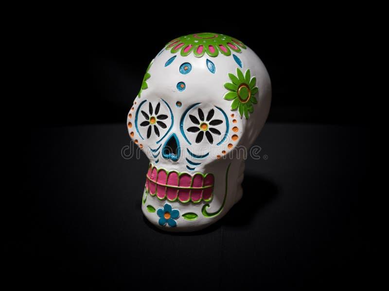 Vita Sugar Skull arkivfoton