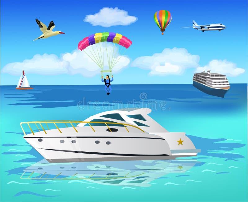 Vita sul mare illustrazione di stock