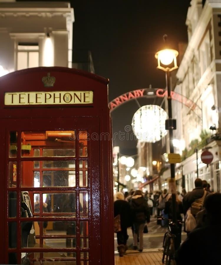 Vita a tarda notte a Londra fotografia stock