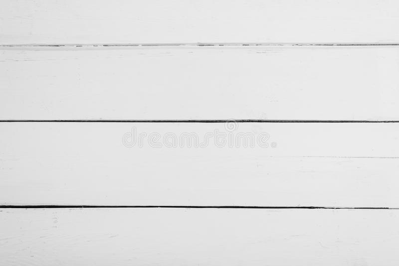 Vita träbräden med textur för bakgrund Horisontal inrama royaltyfria foton