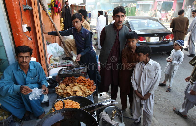 Vita in valle dello schiaffo, Pakistan immagini stock