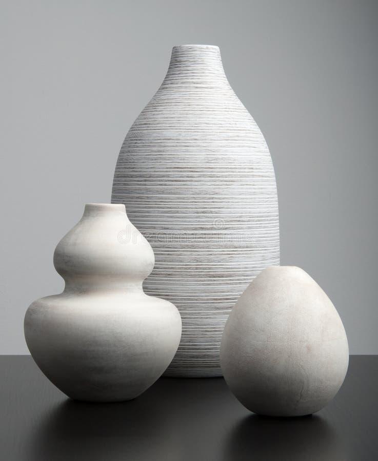 Vita vaser fotografering för bildbyråer