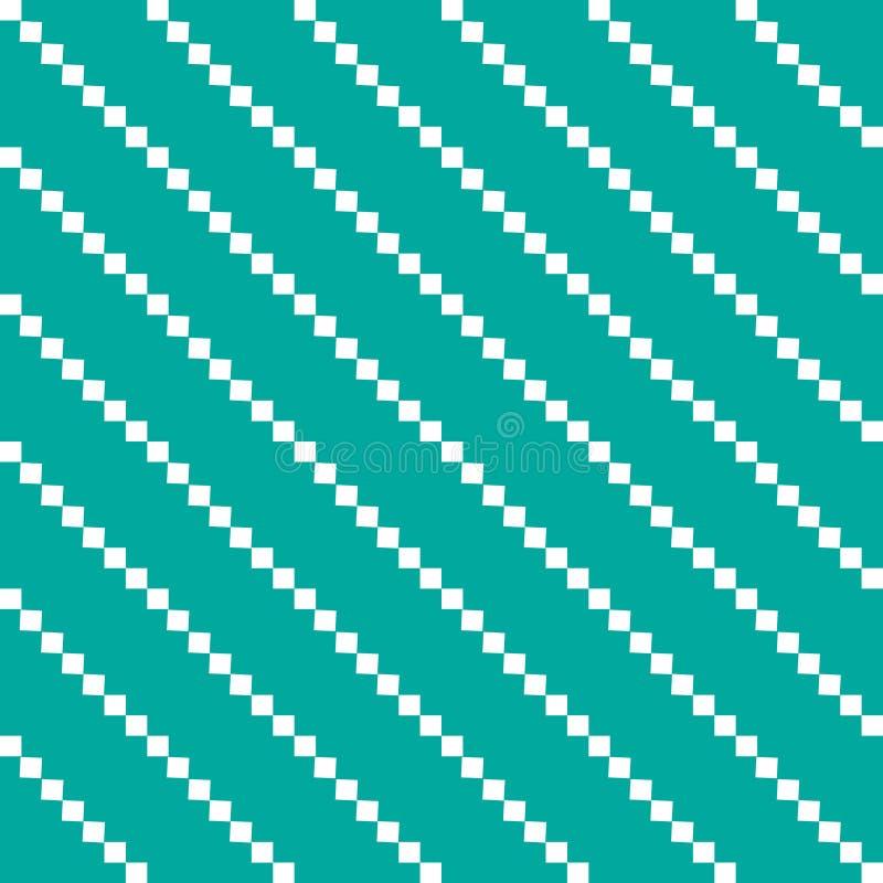 Vita vertikala bollar på en grön bakgrundsgeometri royaltyfri illustrationer