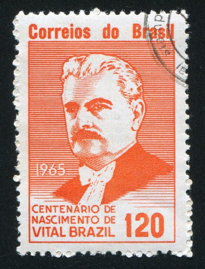 Vital Brazil printed by Brazil stock photo