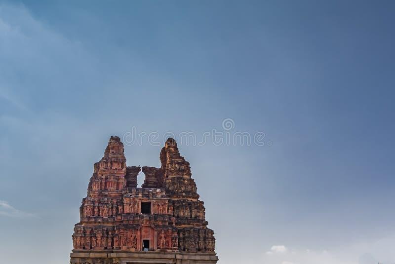 Vitala świątyni wierza, Hampi Karnataka India obrazy stock