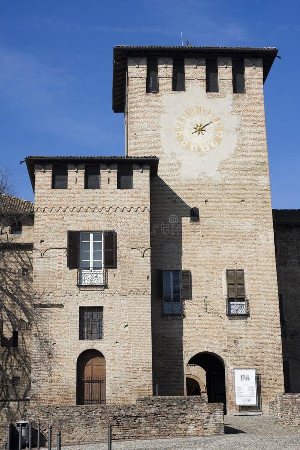 Vitale de Rocca san, castelo velho no fontanellato fotografia de stock royalty free