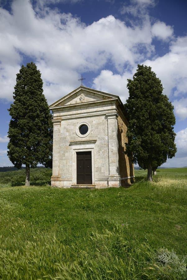 Vitaleta. Church of Madonna di Vitaleta, housing a Madonna attributed to Andrea della Robbia royalty free stock image