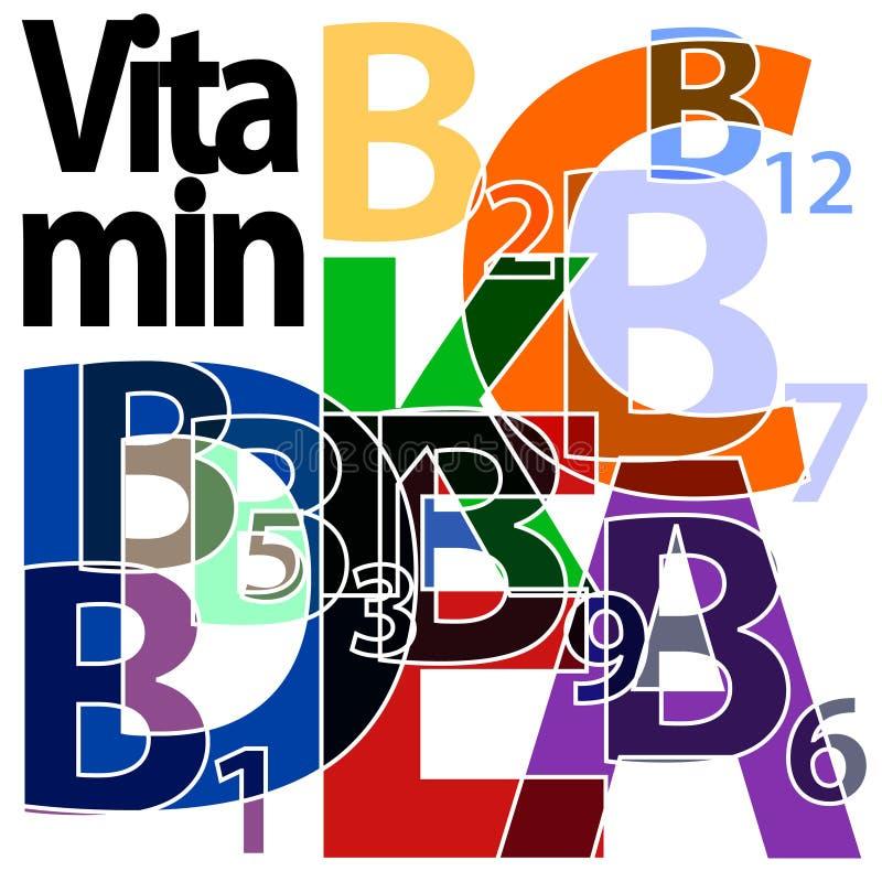 Vitamin. Single letters representing single s royalty free illustration