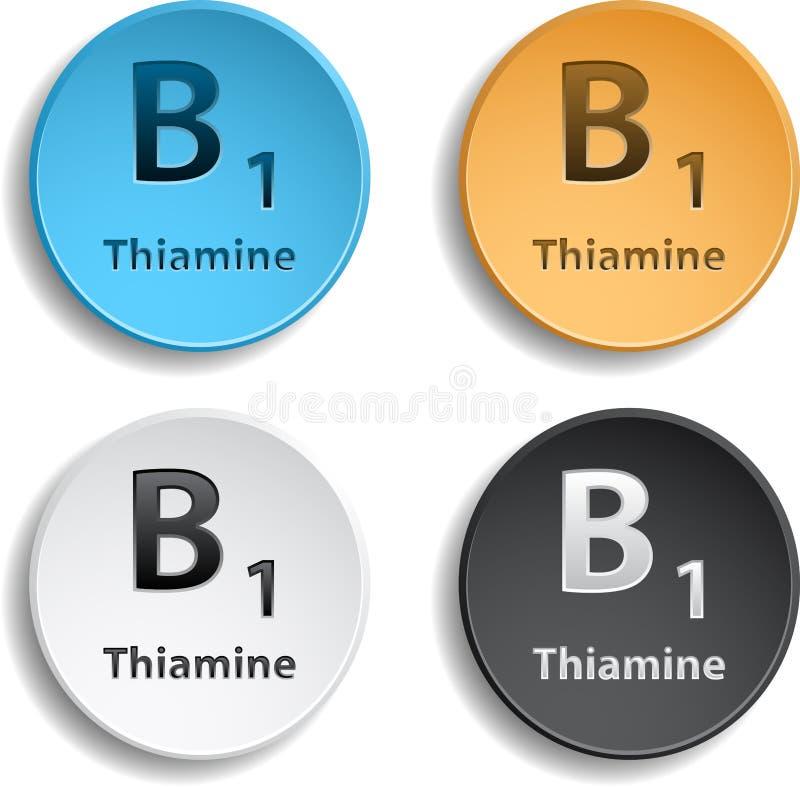 Vitamin B1 stock abbildung