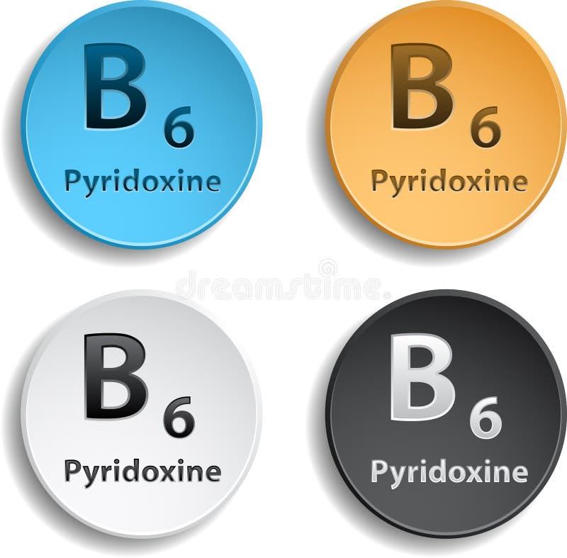 Vitamin B6 vektor abbildung