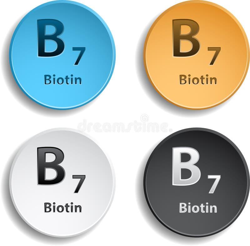 Vitamin B7 stock abbildung