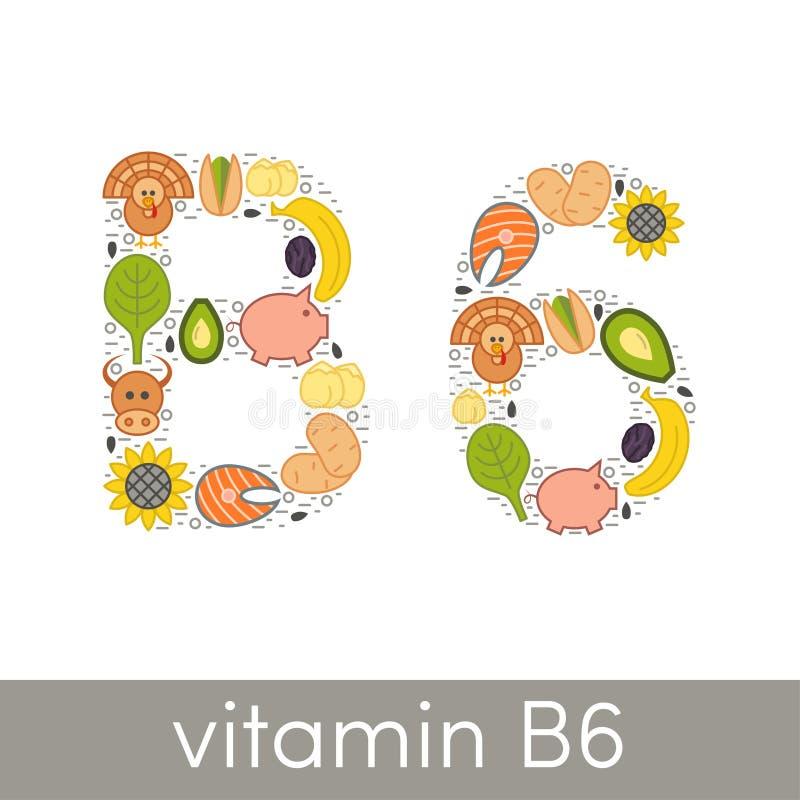 vitamin b6 stock illustrationer