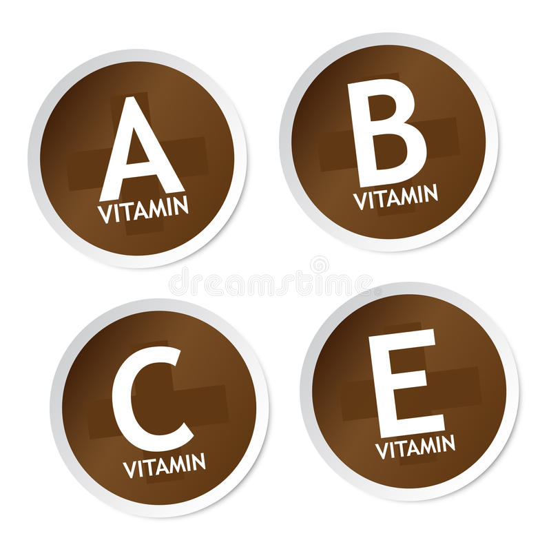 Download Vitamin A, B, C And E Stickers Stock Vector - Image: 28912054