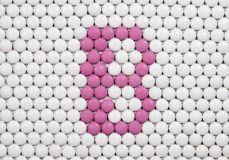Vitamin B som göras av preventivpillerar royaltyfri foto