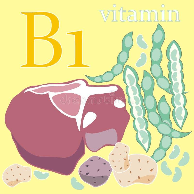 Download Vitamin B1 stock illustration. Image of nature, nutrition - 23175705