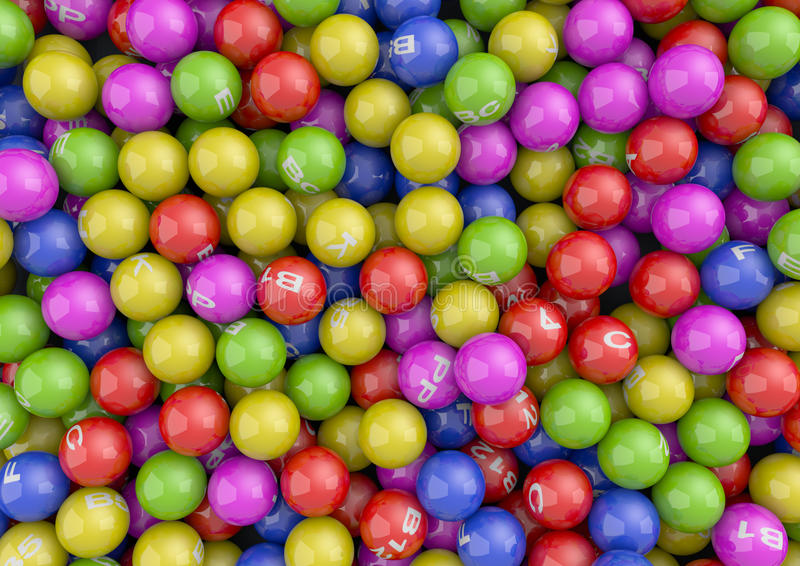 Vitamin Balls Stock Image