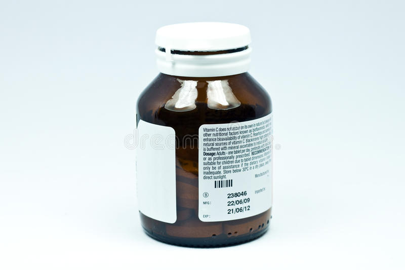 Download Vitamin C bottle stock photo. Image of drug, isolated - 14771608