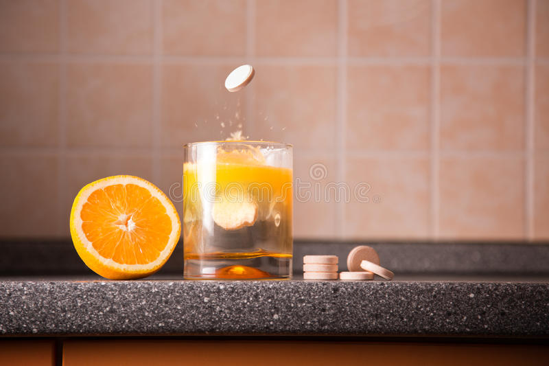 Vitamin C healthy lifestyle concept royalty free stock image