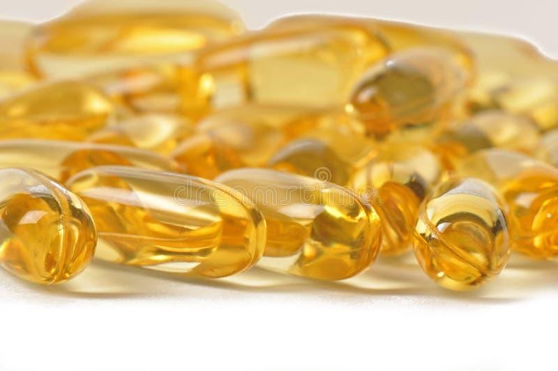 Vitamin caplets lizenzfreies stockbild