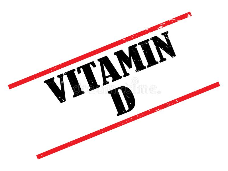 Vitamin D heading. Vitamin D stamped heading on white background royalty free illustration