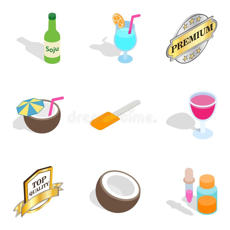Vitamin deficiency icons set, isometric style vector illustration