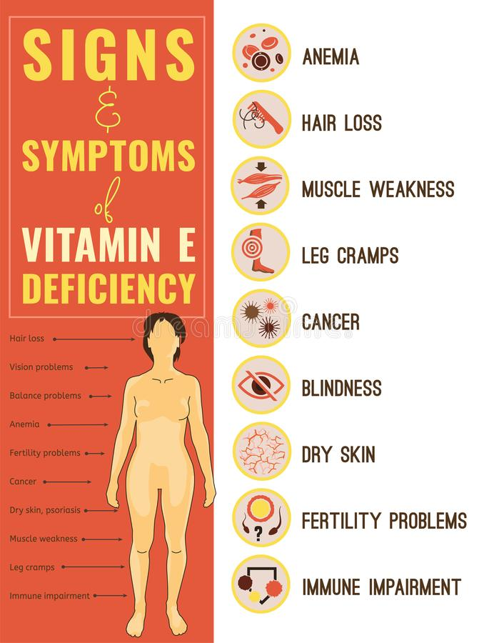 Vitamin E deficiency royalty free illustration