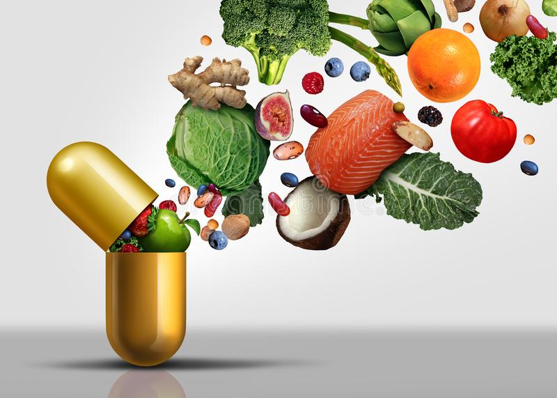 Vitamin-Ergänzungs-Symbol lizenzfreie stockfotografie