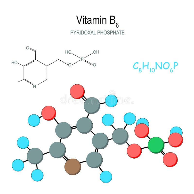 vitamin f?r molekyl b6 stock illustrationer