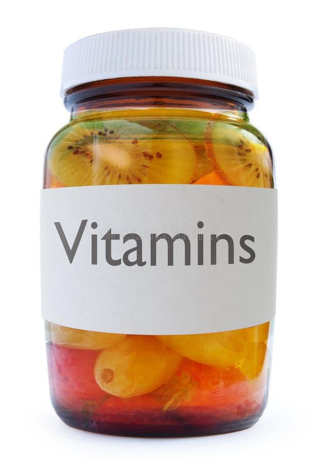 Vitamin fruit bottle concept royalty free stock image